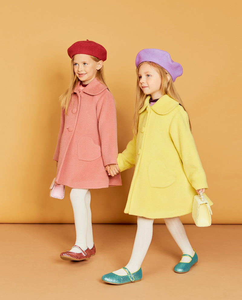 Heart Pocket Double Button Coat on MooMooz