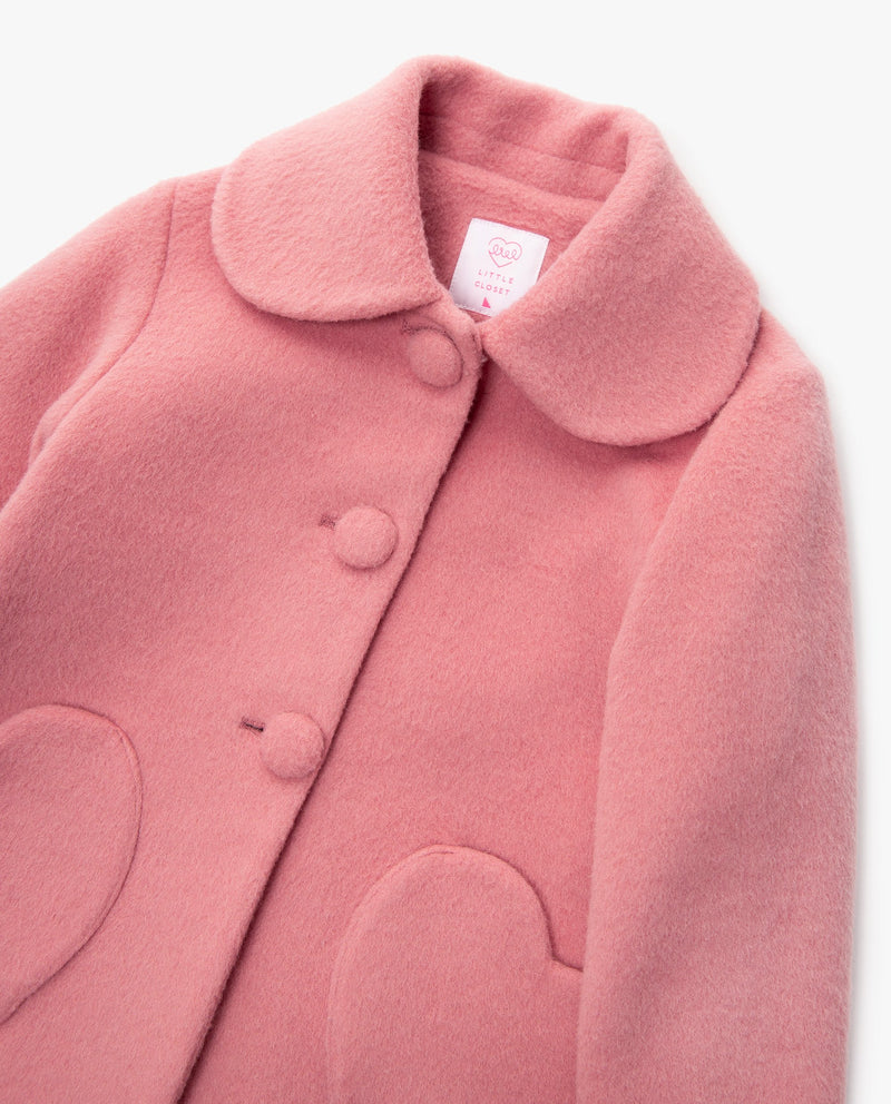 [Out of Stock] Heart Pocket Double Button Coat
