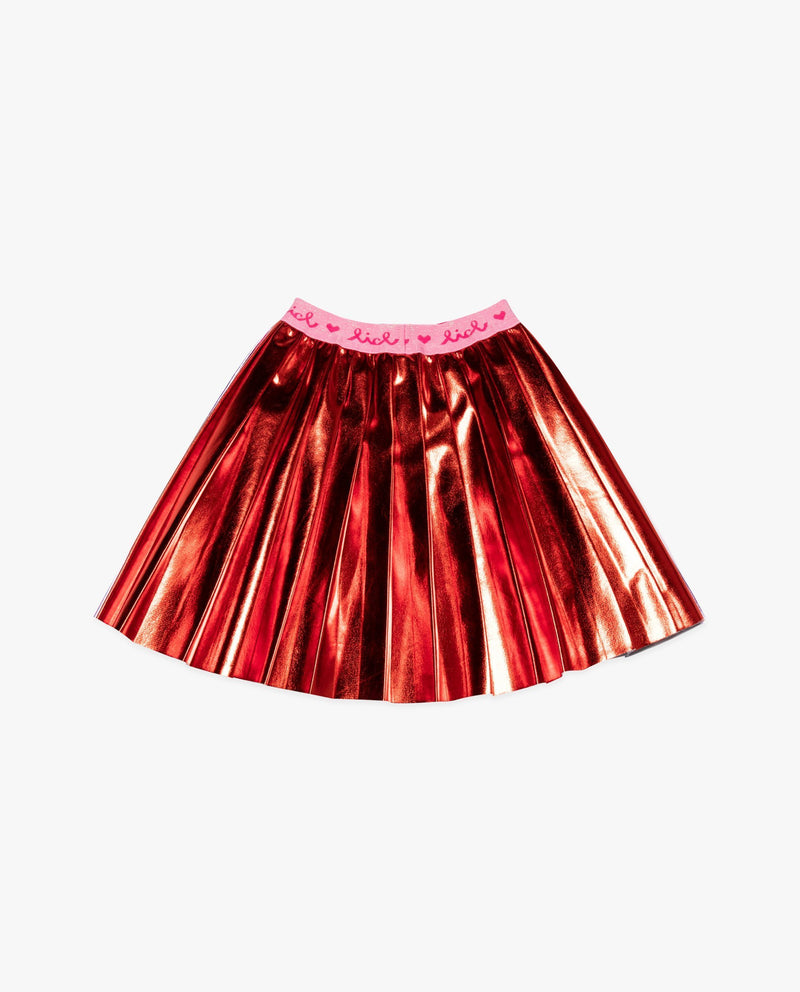 Metallic Half and Half Skirt on MooMooz