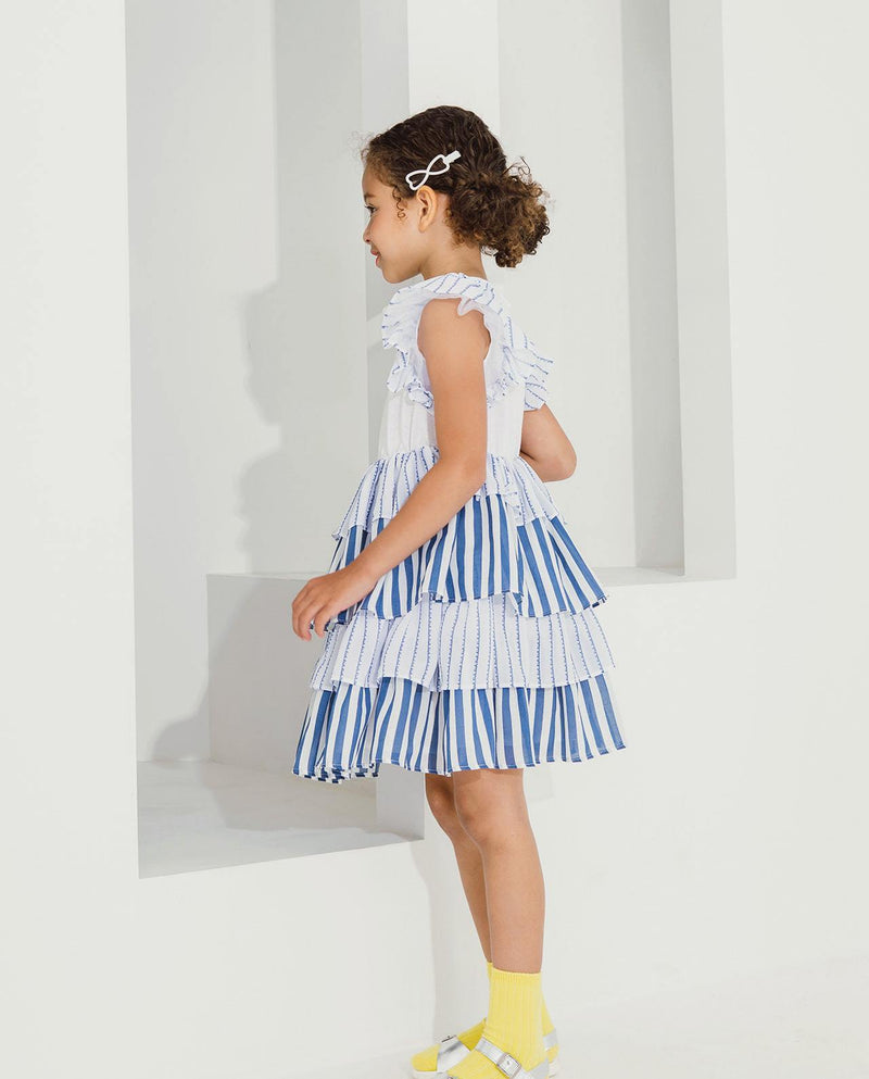 Tiered Ruffled Can-can Dress