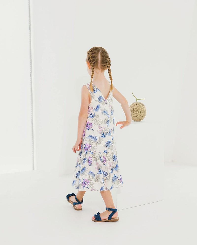 [Out of Stock] Sleeveless V-Neck Floral Dress