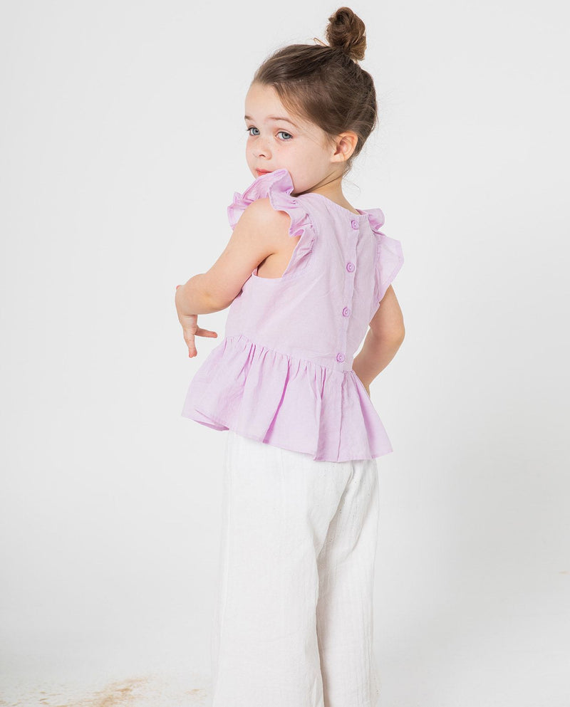 [Out of Stock] [SET] Cotton Ruffle Top and Bottoms