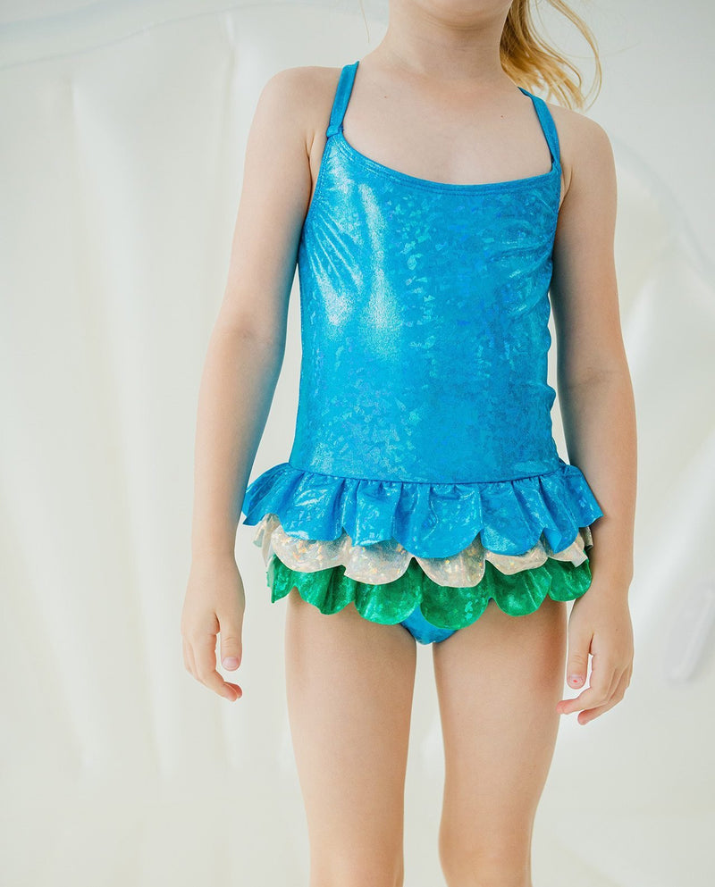 [Out of Stock] Girls Glittery Swimsuit