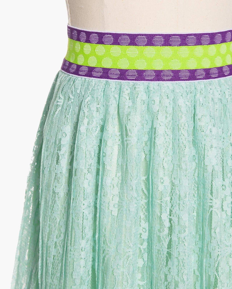 [Out of Stock] Glittery Banded Waist Skirt