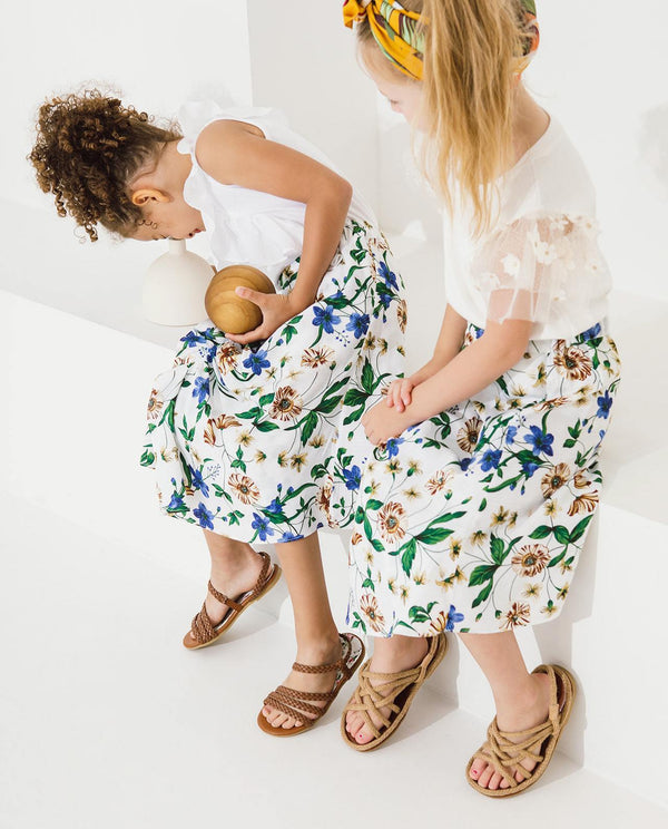 [KIDS] Summer Floral Ruffle Skirt