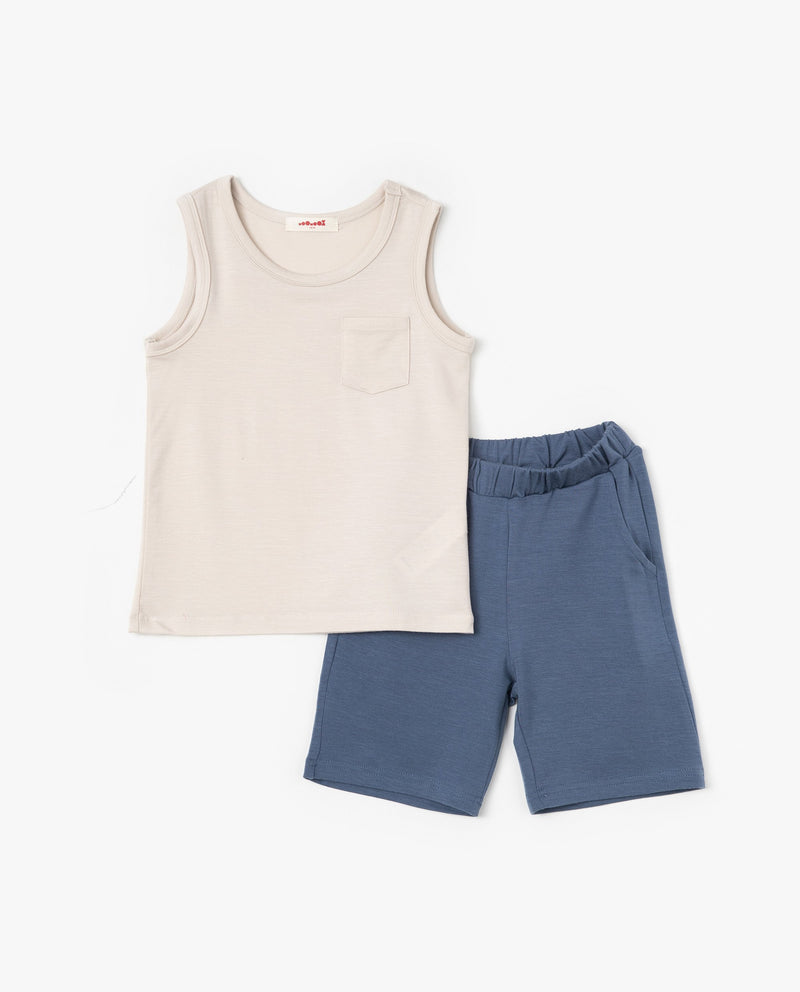 [SET] Essential Sleeveless Top and Bottoms Set on MooMooz