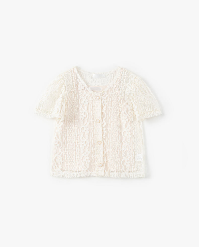 [SET] Sheer Lace Button Down Cardigan