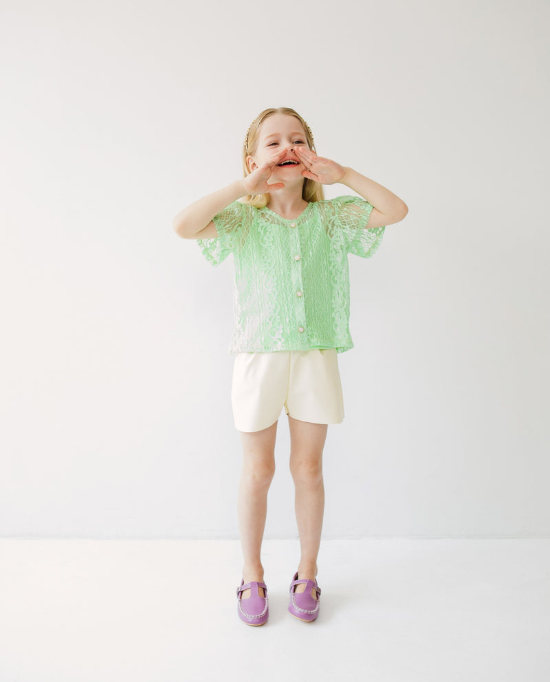 [SET] Sheer Lace Button Down Cardigan on MooMooz