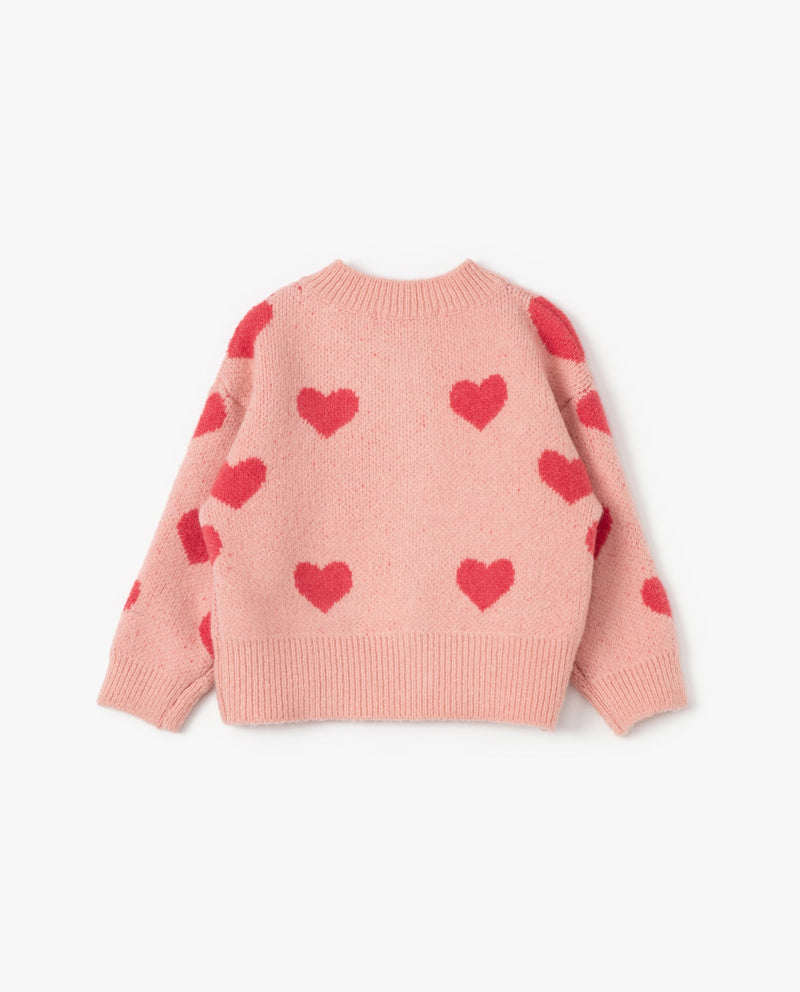 [Out of Stock]Heart Print Cardigan