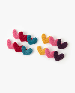 [SET] Triple Heart Hair Pins on MooMooz
