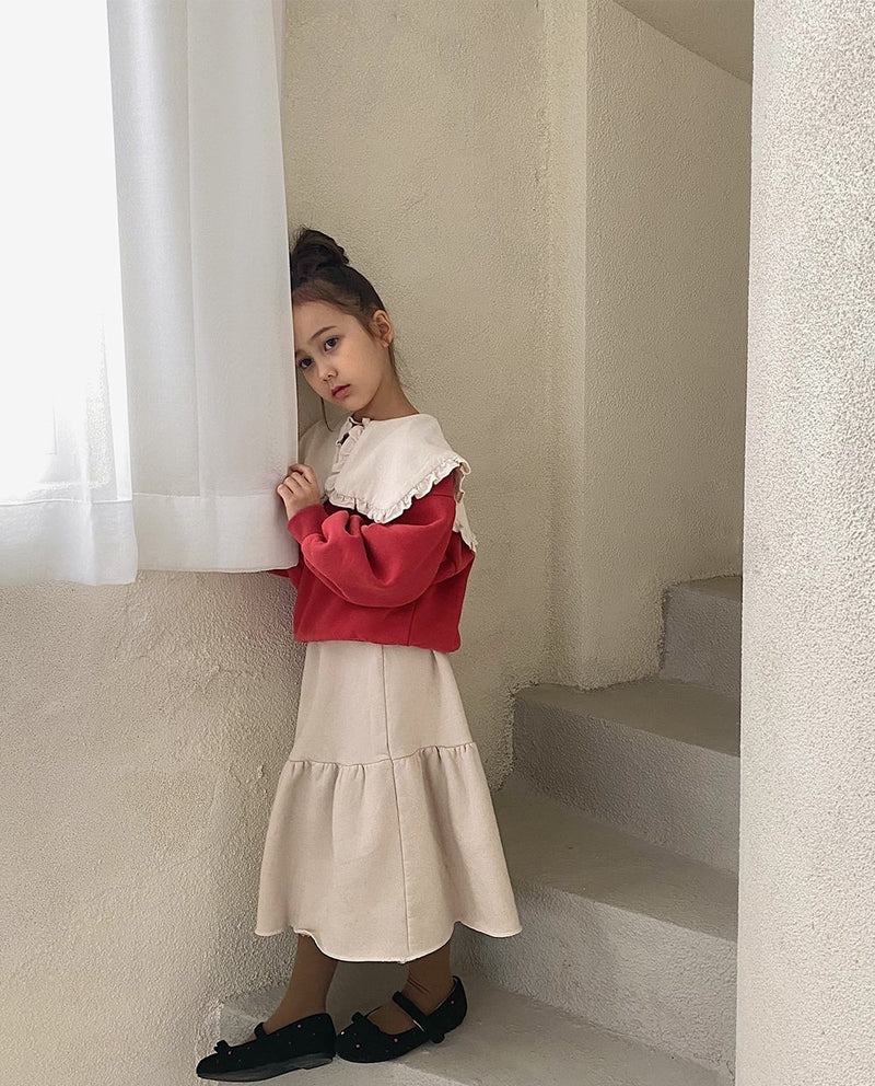 [Out of Stock] Ruffled Square Collar Sweatshirt