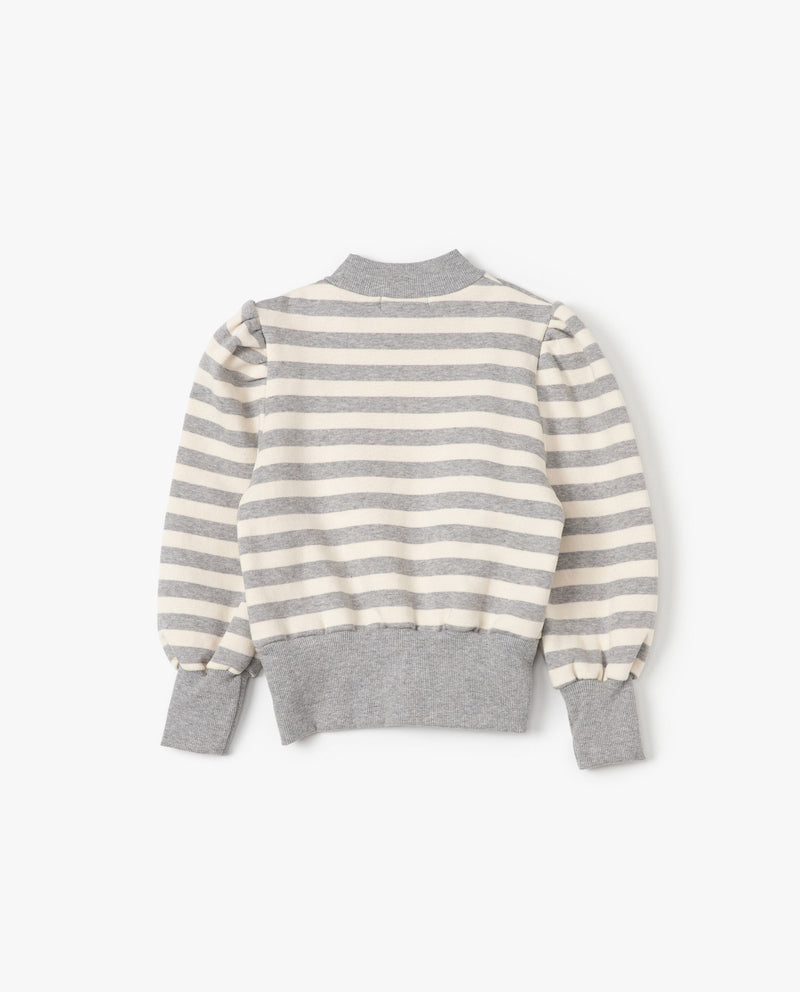 [Out of Stock] Puff Sleeve Striped Sweatshirt