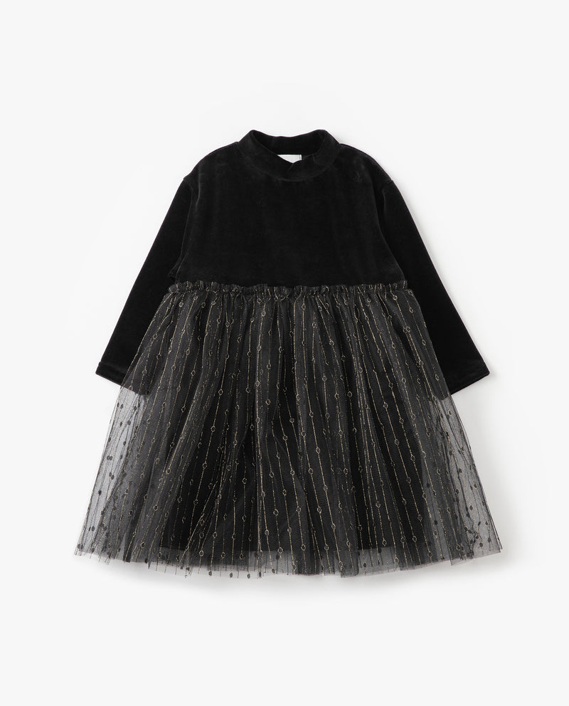 Velvet Tulle Overlay Dress on MooMooz