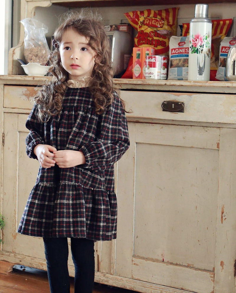 Mock Neck School Girl Dress