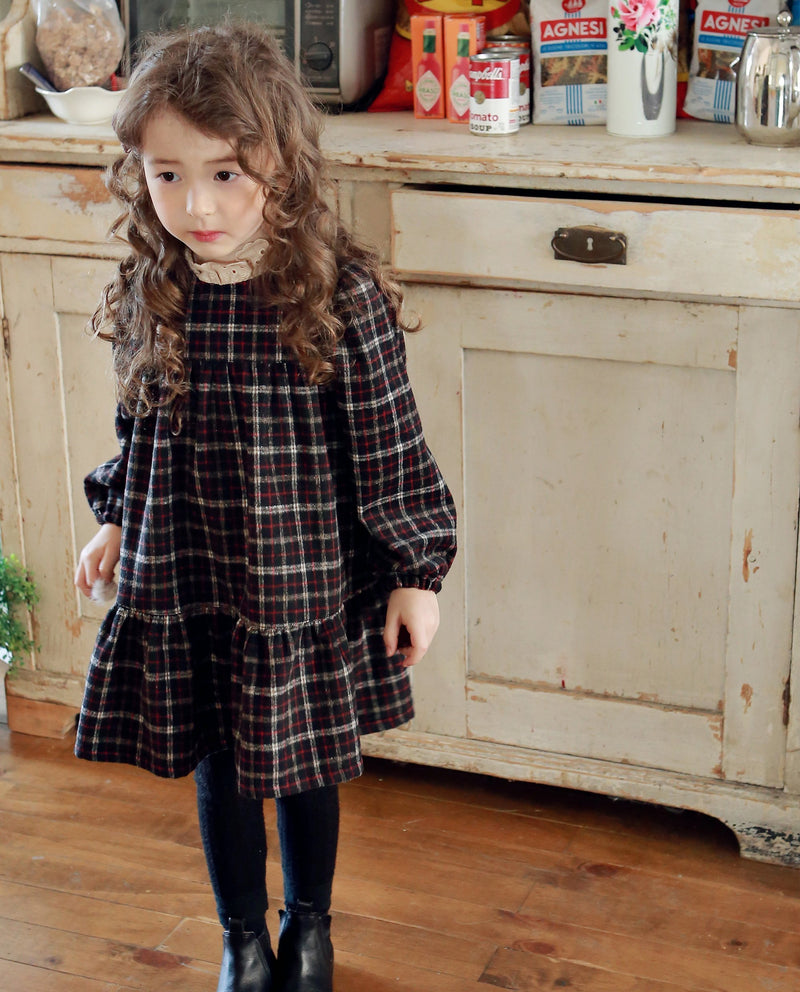 Mock Neck School Girl Dress on MooMooz