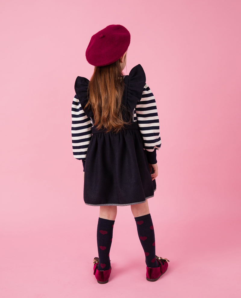 Ruffled Wool Apron Dress on MooMooz