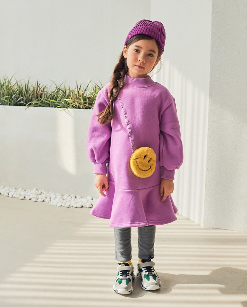 [Out of Stock]Smiley Face Dress (Purple)