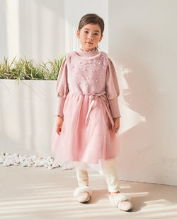 Baby Pink Pearl Dress (Pink) on MooMooz