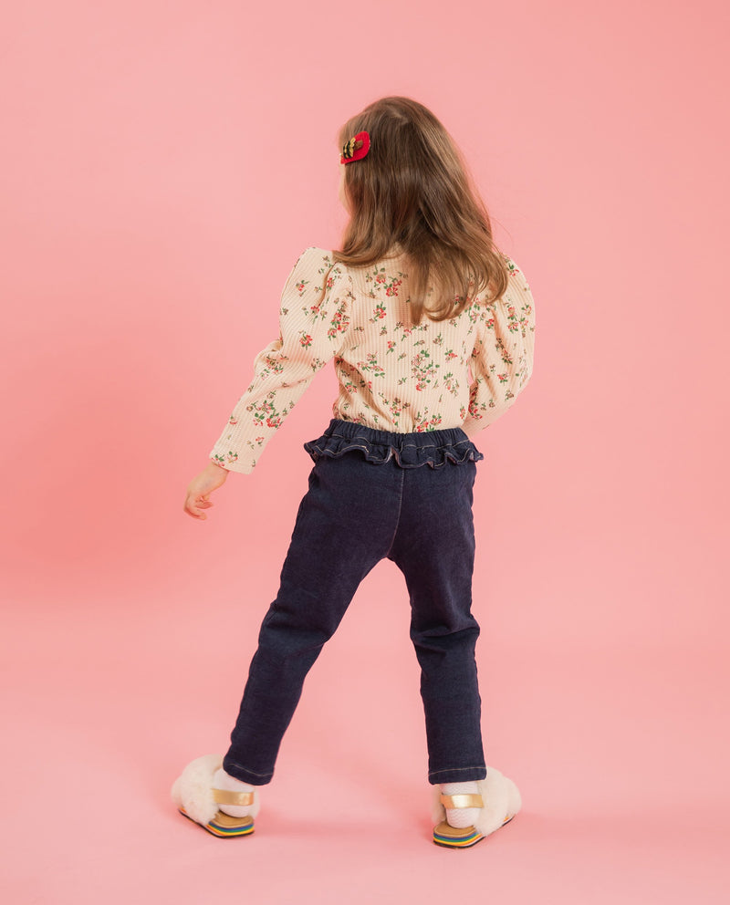 Ruffle Patched Pants on MooMooz