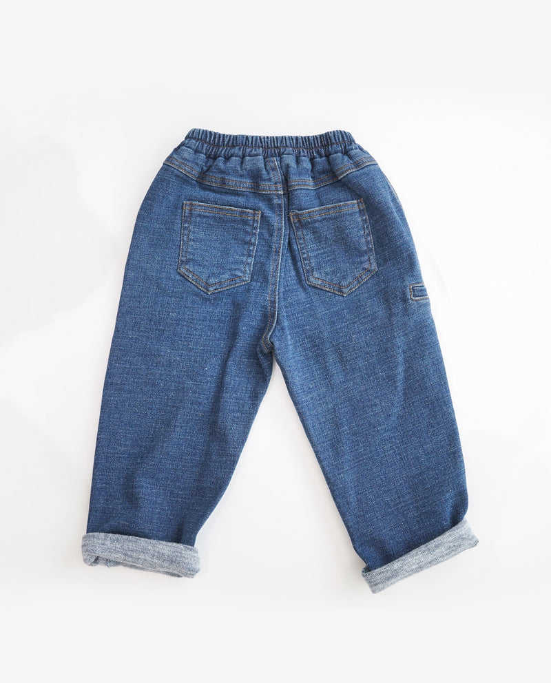 [Out of Stock] Cuffed Baggy Jeans