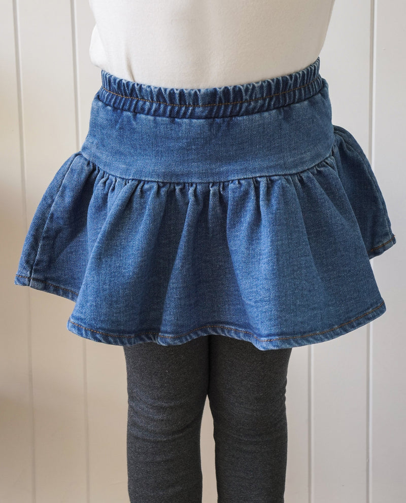 Denim Skirted Leggings on MooMooz