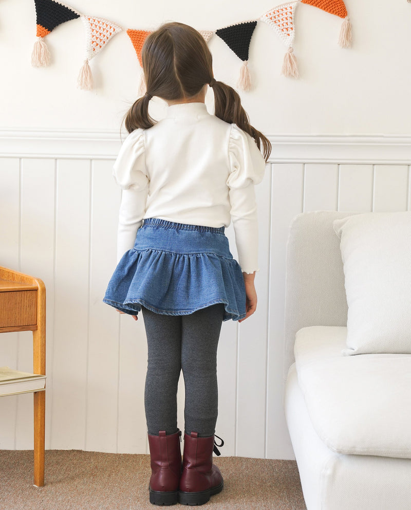 [Out of Stock] Denim Skirted Leggings