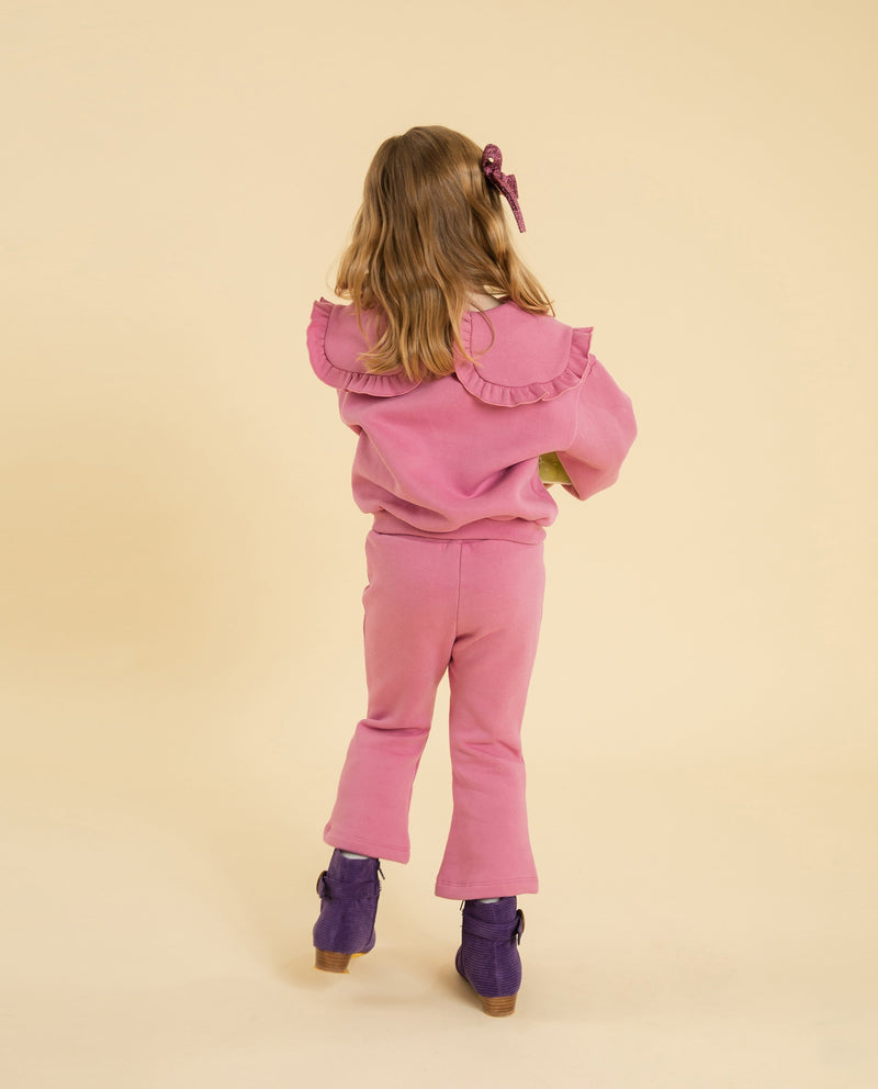 [SET] Ruffled Collar Sweatshirt and Sweatpants on MooMooz