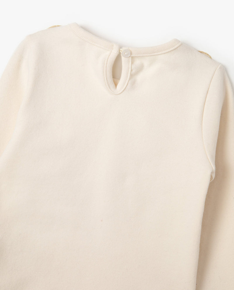 [Out of Stock]Stretchy Tulle Patched T-Shirt