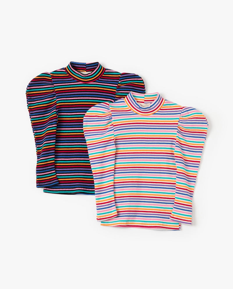 [Out of Stock] Rainbow Puff Sleeve T-Shirt