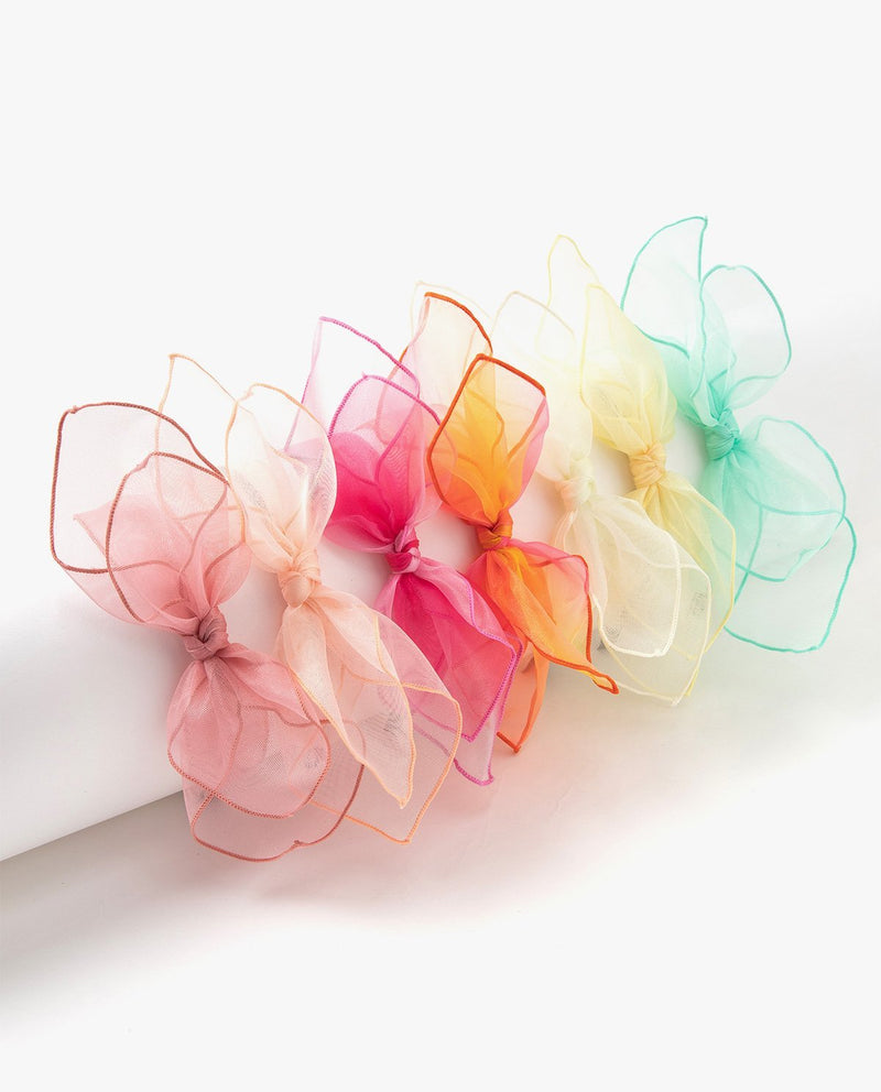 Tulle Big Bow Headband Yellow