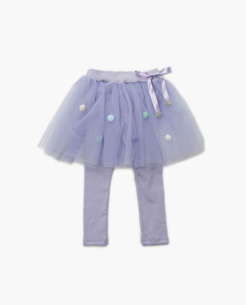 [Out of Stock] Girls Pom Pom Skirted Leggings