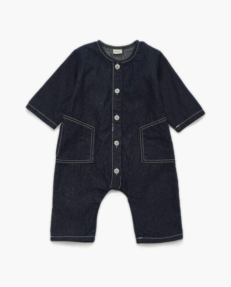 [Out of Stock] Stitched Denim Bodysuit