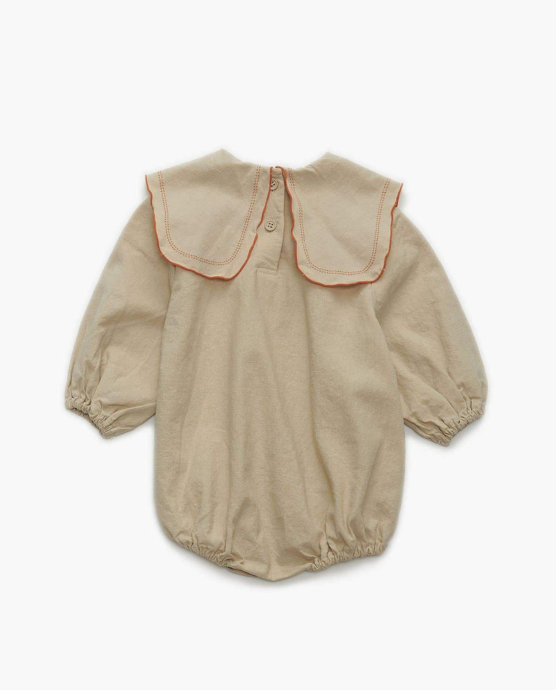 [Out of Stock] Cotton Bib Collar Bodysuit