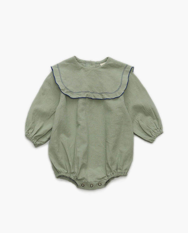 Cotton Bib Collar Bodysuit