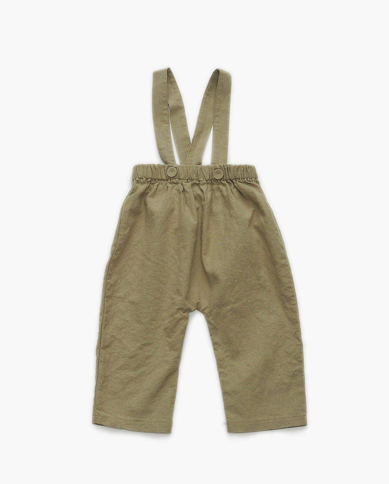 [Out of Stock] Cool Cotton Suspender Pants