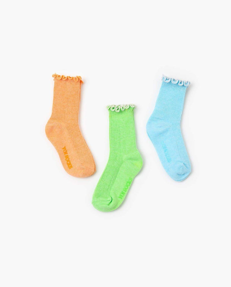 [Out of Stock] Coral Reefs Socks 3Pairs Set
