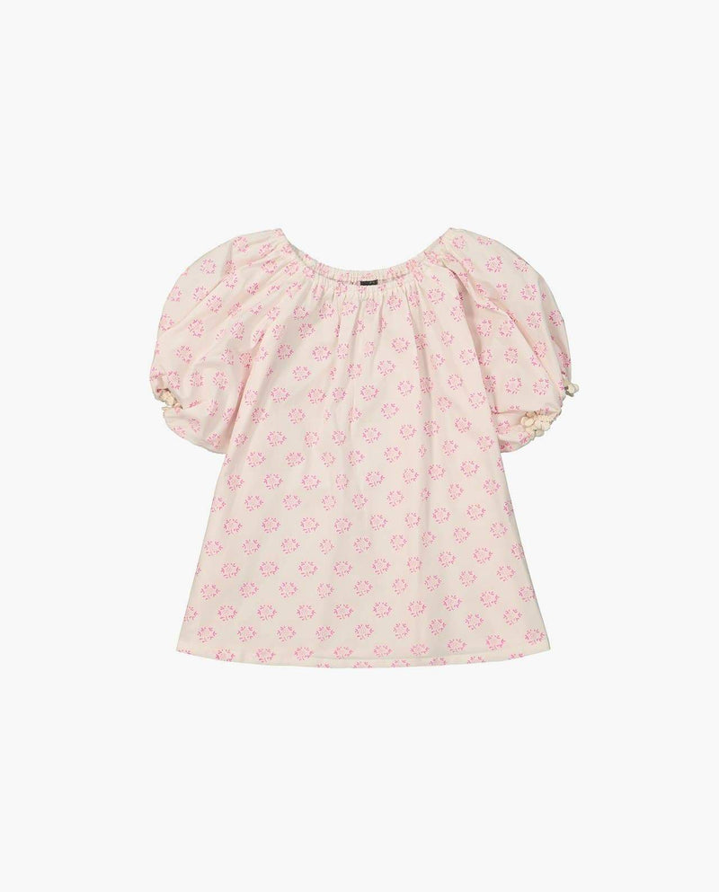 [Out of Stock] Shirred Bubble Blouse