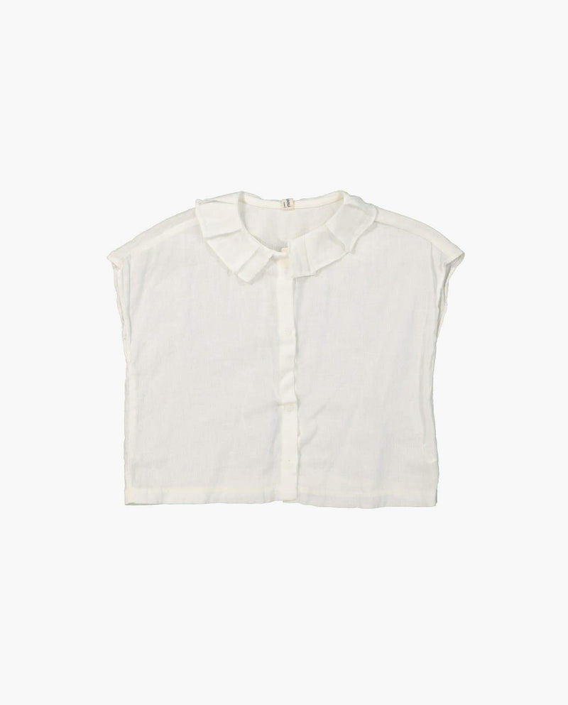 [Out of Stock] Ruffled Collar Cotton Blouse