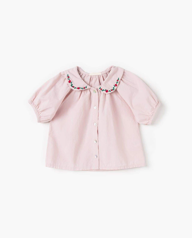 [Out of Stock] Embroidered Round Collar Blouse