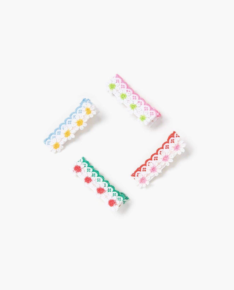 [Out of Stock] [SET-4PCS] Floral Knit Pins