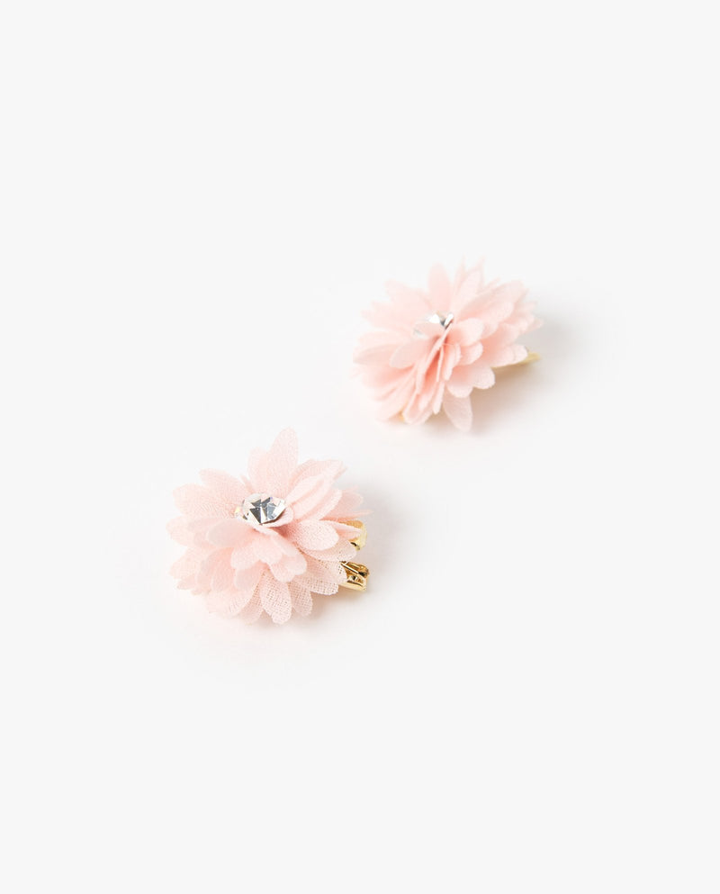 [SET] Puffy Flower Hair Clips