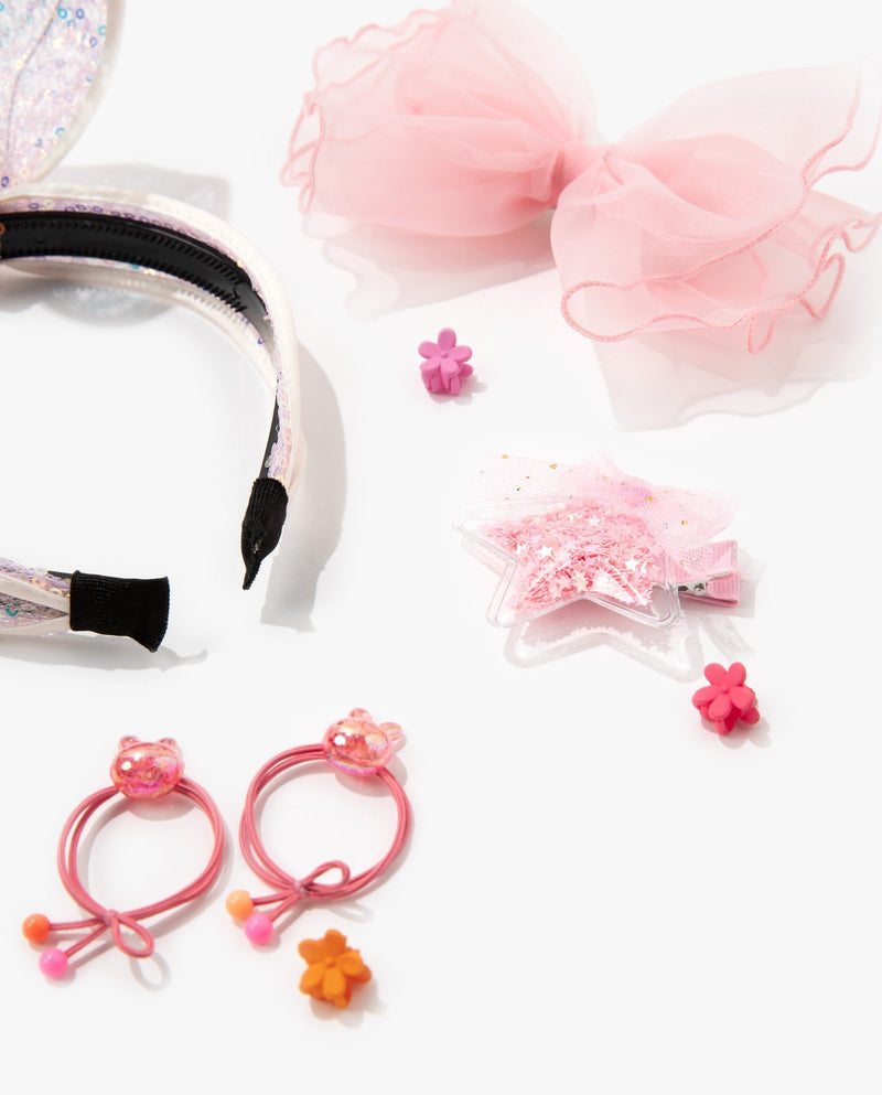 [Out of Stock] [SET] Bunny Hair Accessory Essentials Kit (Baby Pink)