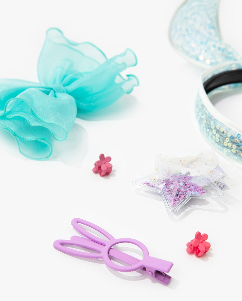 [Out of Stock] [SET] Bunny Hair Accessory Essentials Kit (Sky Blue)