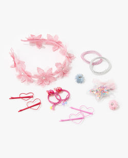 [Out of Stock] [SET] Full Bloom Hair Accessory Essentials Kit (Baby Pink)