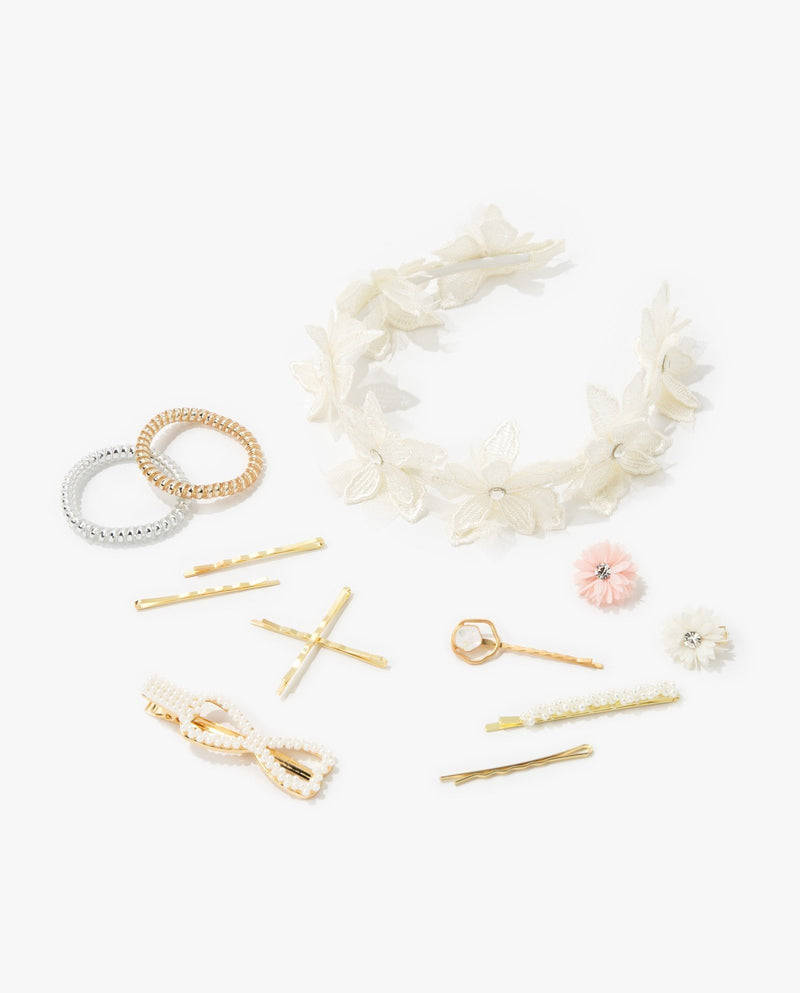 [SET] Full Bloom Hair Accessory Essentials Kit (White)