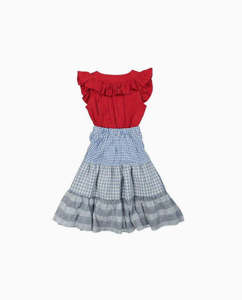 [Out of Stock] Square Neck Ruffle Dress