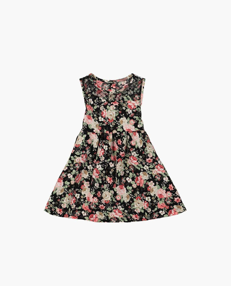 [Out of Stock] Sheer Neck Floral Print Dress