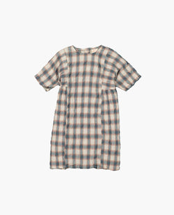 [Out of Stock] Plaid Short Sleeve Dress
