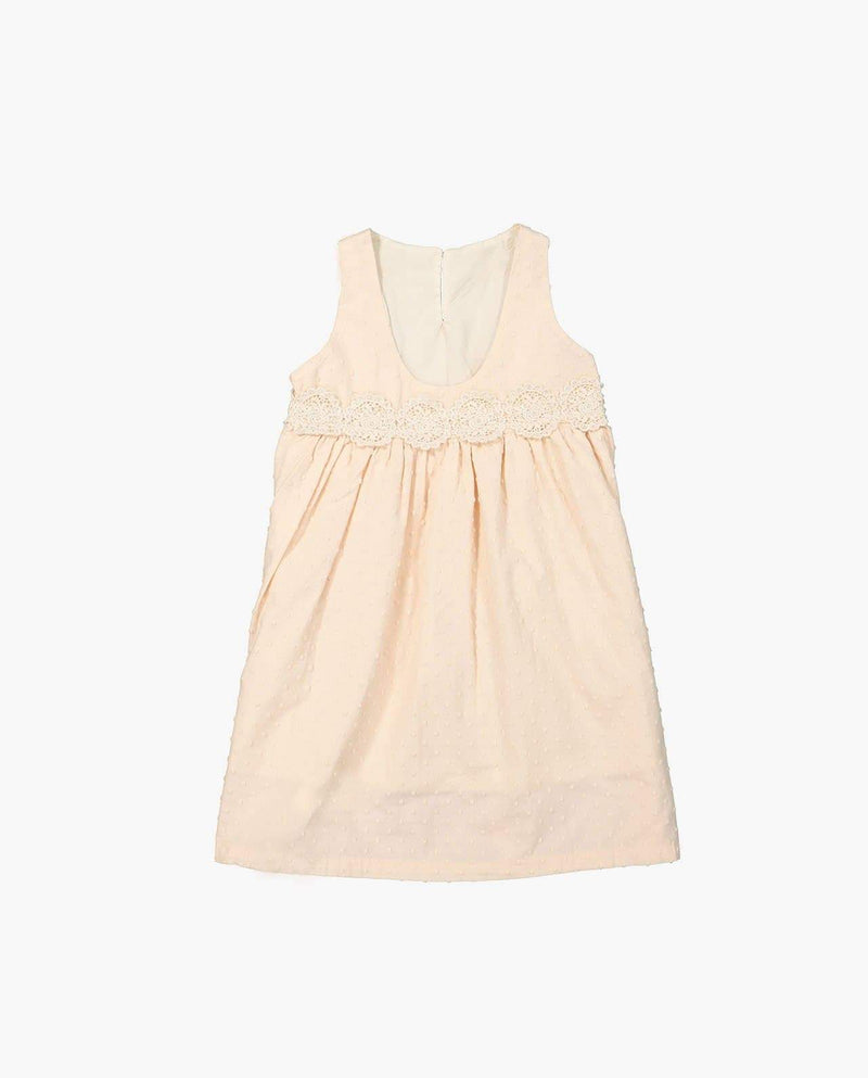 [Out of Stock] Sleeveless Embroidery Dress