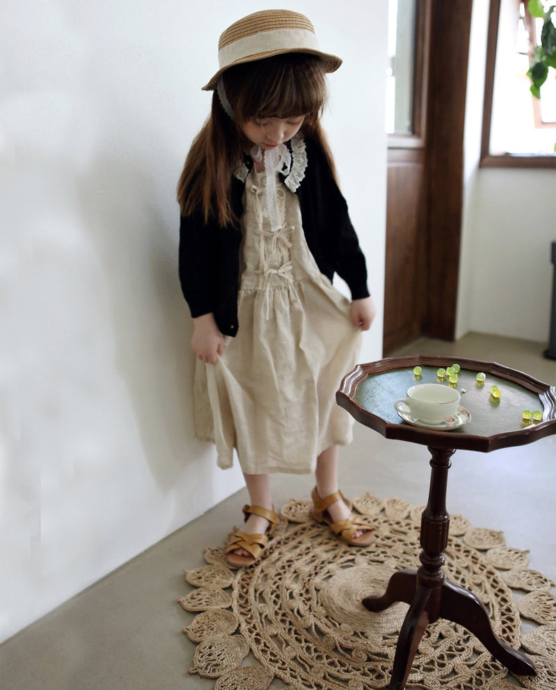 [Out of Stock] Triple Bow Linen Blend Dress